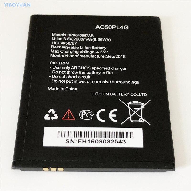 3,8 V 2200mAh FHPK045867AR AC50PL4G para Archos 50 Platinum 4G batería