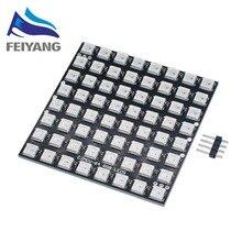 WS2812 светодиодный 5050 RGB 8x8 СВЕТОДИОДНЫЙ матричный совершенно новый WS2812B 8*8 64-разрядный полноцветный 5050 RGB светодиодный светильник панельный светильник