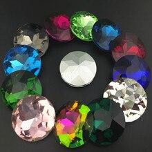 Baoshihua rond en verre pierre cristal   Toutes les tailles, 8 10 12 14 16 25 27mm, strass de haute qualité à dos pointu, plateau plat
