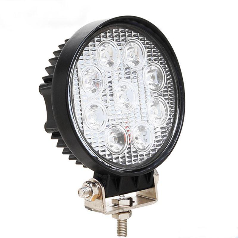 Barra de luz LED de obra de 27W, barra de luz LED de 12V para indicadores, Luz antiniebla LED de motocicleta para vehículos todoterreno para Jeep BMW VW Toyota Focus