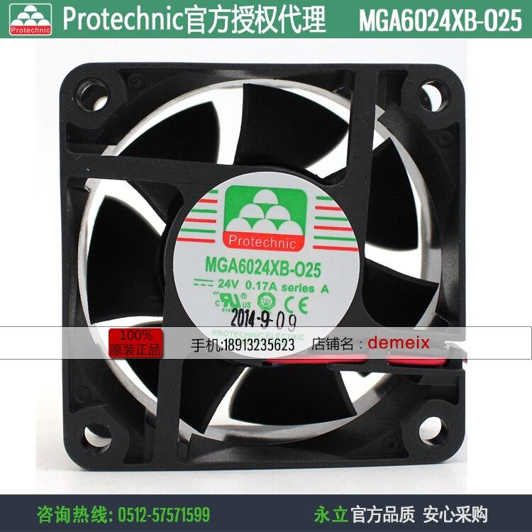 نيو بروتكنيك MGA6024XB-O25 6025 24 فولت 0.17A تردد مروحة التبريد