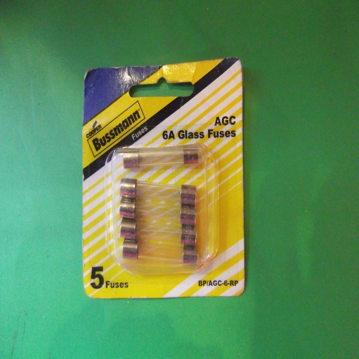 Envío Gratis 5 piezas AGC-6 bus original hombre 6,32*32 MM fusible de tubo de vidrio 6A 250V5/caja