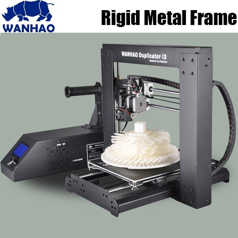 Impresora 3D Wanhao de nivel Industrial actualizado, modelo I3 V2.1, impresora con resolución de 0,1mm y filamento PLA de 20m para pruebas