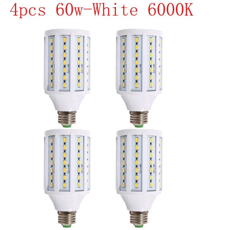 4 Uds 60w bombilla LED para foto estudio Video luz difusor caja suave kit de iluminación E27 6000K LED tipo mazorca