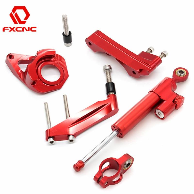 For Suzuki GSXR 1000 GSXR1000 2001 2002 2003 2004 CNC Motorcycle Stabilize Steering Damper Bracket Mounting Kit Support
