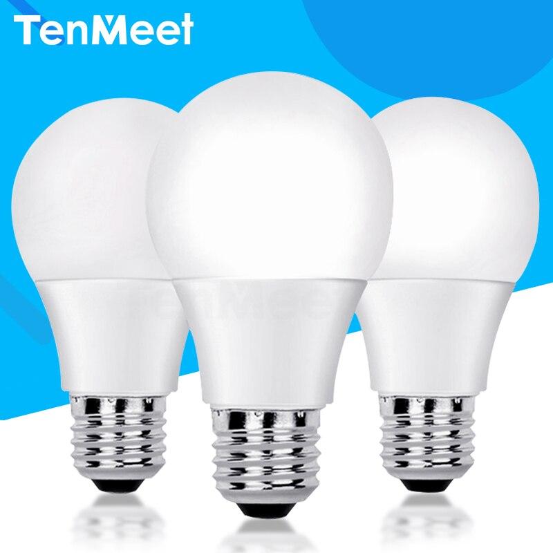 Led-lampe Lampen E27 220V Glühbirne Smart IC Real Power 3W 5W 7W 9W 12W 15W 18W Lampada Hohe Helligkeit Scheinwerfer LED Bombilla