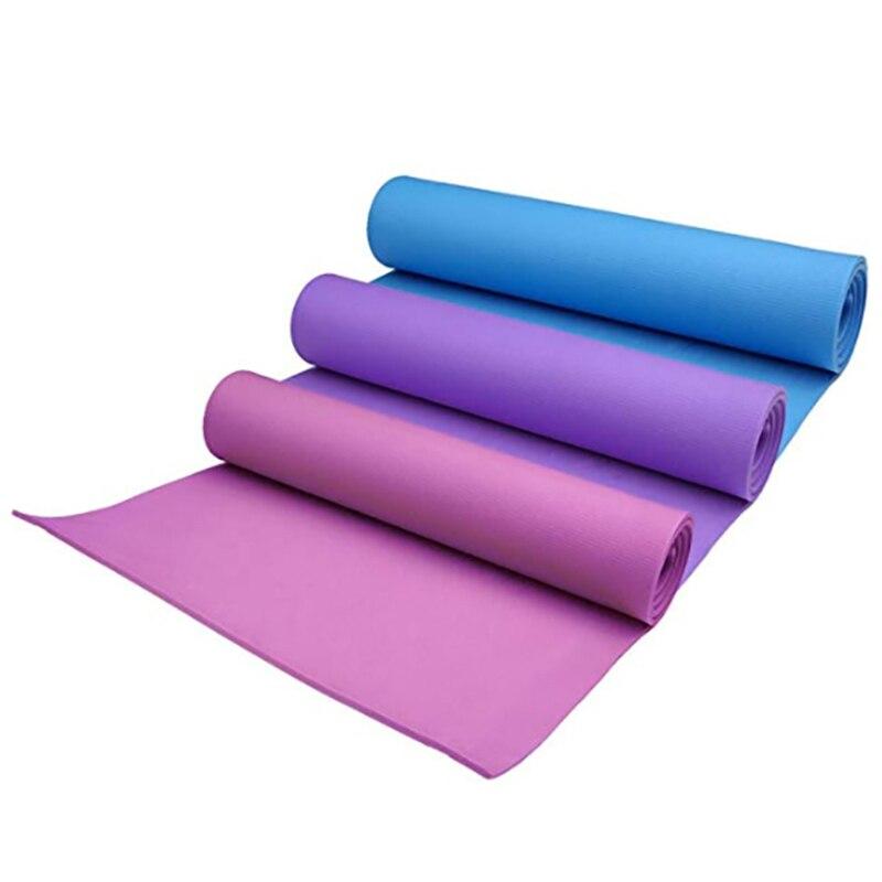 Colchoneta de Yoga antideslizante de 183x61 CM x 4 MM, colchoneta de espuma EVA antideslizante para Yoga, colchón para dormir a prueba de humedad para Pilates, ejercicio físico, perder peso