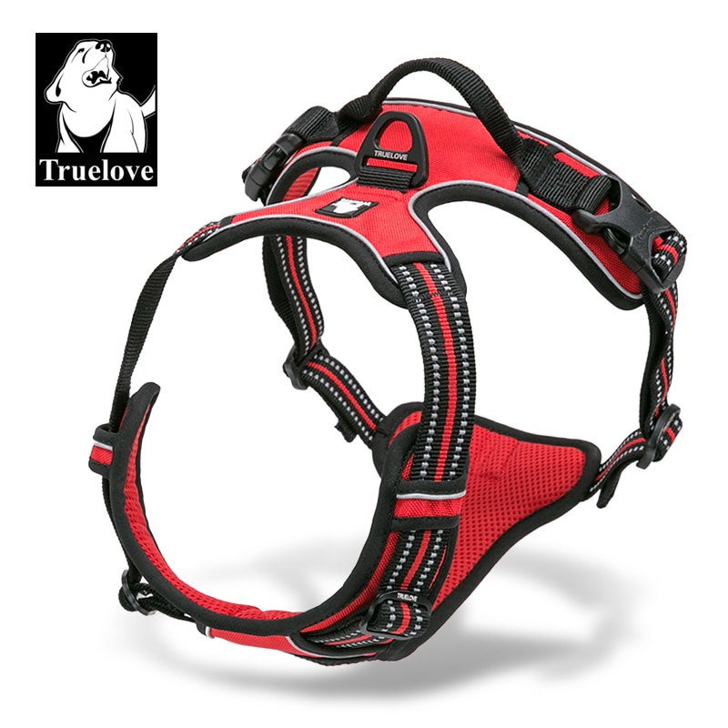 aliexpress - Truelove Front Range Reflective Nylon large pet Dog Harness All Weather  Padded  Adjustable Safety Vehicular  leads for dogs pet