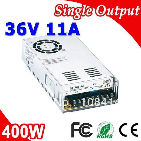 S-400-36 400W 36V 11A LED de conmutación cargador de energía transformador 110V 220V a 36 V, salida DC