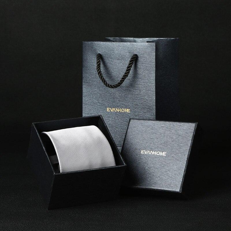 classic men business man formal wedding tie 8cm small sliver stripe waterproof zip neck tie fashion shirt dress accessories