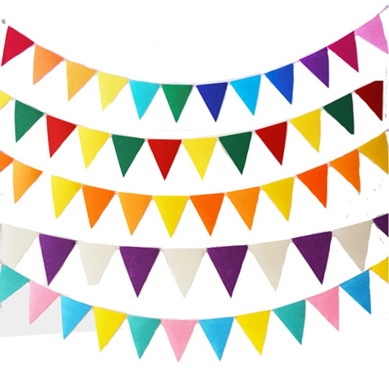 12Flags baby shower Bunting Banner Happy birthday party Flags Hang Wedding Garland Decoration Supplies blauwe slingers mariage halloween pumpkin head happy carnival decoration candy bar bunting garlands party decor wedding babyshower wreath slingers