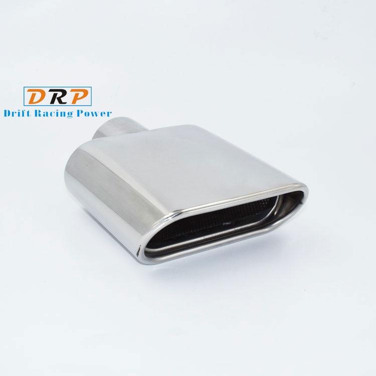 Venda quente 1 pçs 304 aço inoxidável boca quadrada silenciador do escape do carro ponta tubo de escape para universal