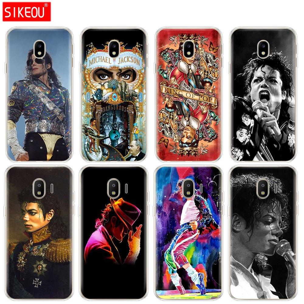 Funda de silicona para teléfono para Samsung Galaxy J3 J5 J7 2017 J330 J530 J730 PRO j2 2018 Michael Jackson dancing king diseño