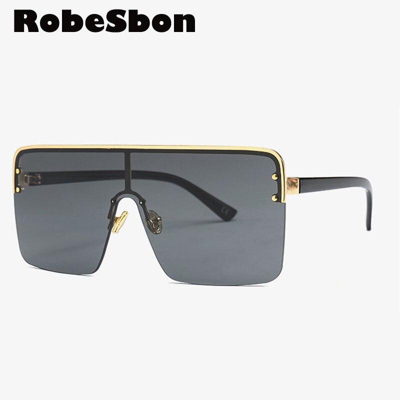 Gafas De sol cuadradas sin montura De gran tamaño, Gafas De sol De marca Vintage para hombre, Gafas De conducción con gradiente, Gafas De sol