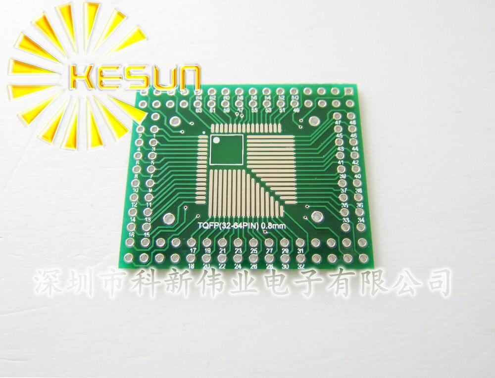 100 шт. X QFP/FQFP/LQFP TQFP32/TQFP44/TQFP64/TQFP80/TQFP100 0,5 мм/0,8 мм Шаг IC адаптер розетка/адаптер пластина/PCB