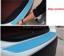 1PCS Car Styling Door Sill Guard Rear Bumper Protector Strip for Jeep wrangler jk cherokee compass renegade jacket accessories