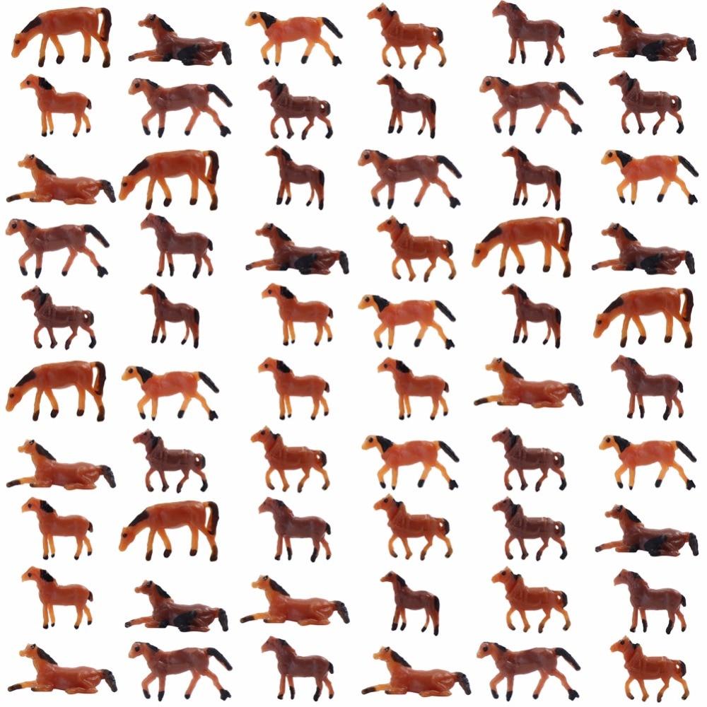 AN15002 60 uds. 1150 modelo bien pintado, animales de granja, modelo de caballos a escala N, paisaje, diseño de paisaje, 6 Poses