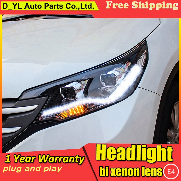 Faros de estilo de coche para Honda C-RV 2012-2015 faros LED para CRV faro delantero LED luz de circulación Diurna LED DRL bi-xenon HID