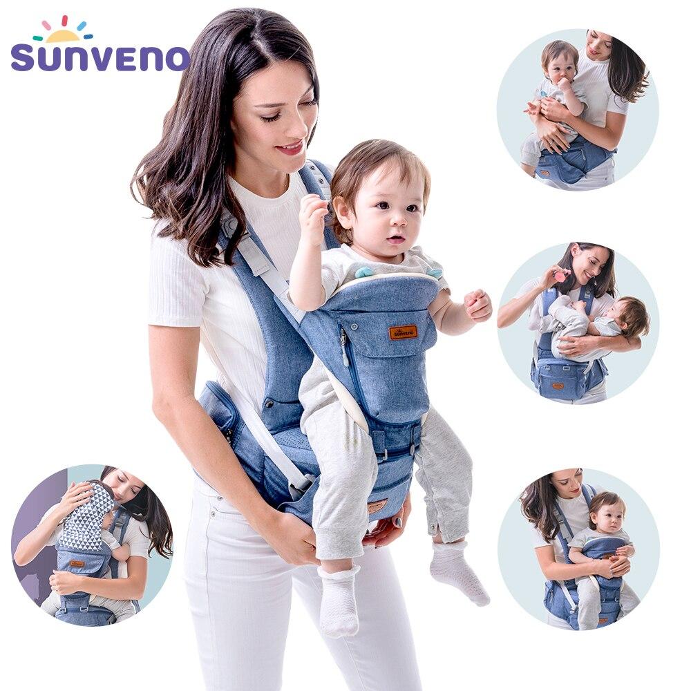 Sunveno, nuevas portabebés ergonómicas, abrigo para bebé, mochila, taburete, asiento para bebés recién nacidos, canguro, cabestrillo de 20kg