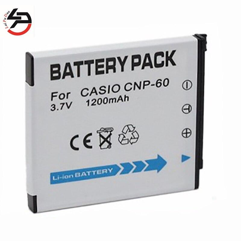 ¡Venta caliente de LPD! 1200 mAh nuevo batería de repuesto para la batería de Casio CNP-60 CNP60 NP-60 Ex-s10 Ex-z80 Ex-z9
