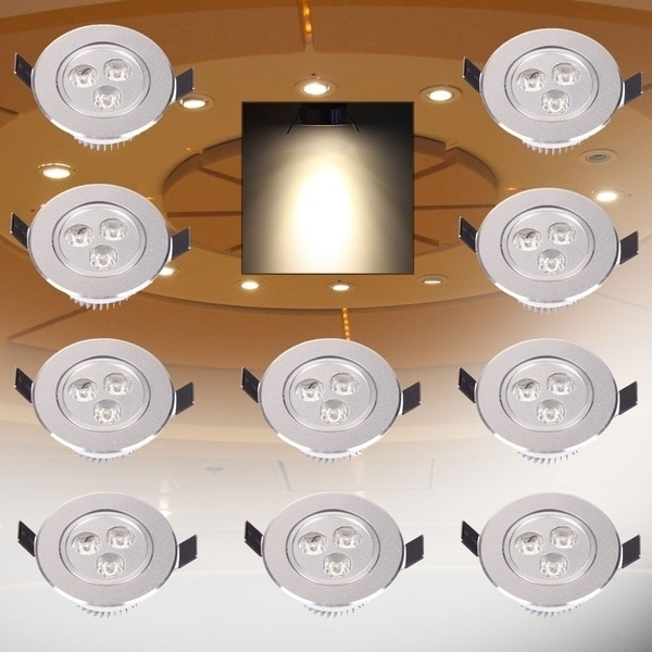 Lámpara de techo Superior 3W LED 3x1w empotrado Downlight techo abajo bombilla punto luz 90-265V