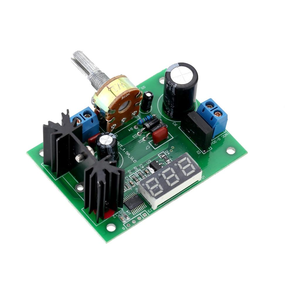 Regulador de tensión regulable continua LM317 AC/DC módulo de fuente de alimentación descendente con pantalla LED 1,25 V-28 V DC