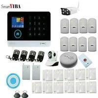 SmartYIBA     systeme dalarme de securite domestique sans fil  wi-fi  GSM  voix LCD  russe  Anti-vol  appel SMS  Android