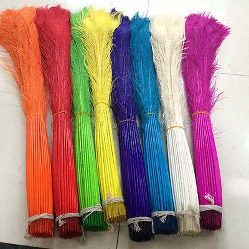 Оптовая продажа 100 шт павлиньих перьев ГЛАЗА 32-34 дюйма/80-90 см цвет на выбор