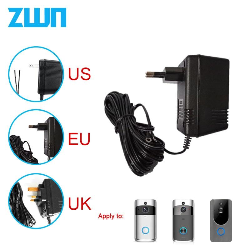 US UK EU Plug 18 V AC transformateur chargeur pour Wifi sans fil sonnette caméra adaptateur dalimentation IP vidéo interphone anneau 110 V-240 V