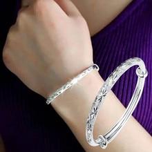Susenstone 2018 nowy projekt regulowana bransoletka dla kobiet biżuteria srebrna elegancka damska bransoletka z wisiorkiem bransoletka Vintage Ladies Gift