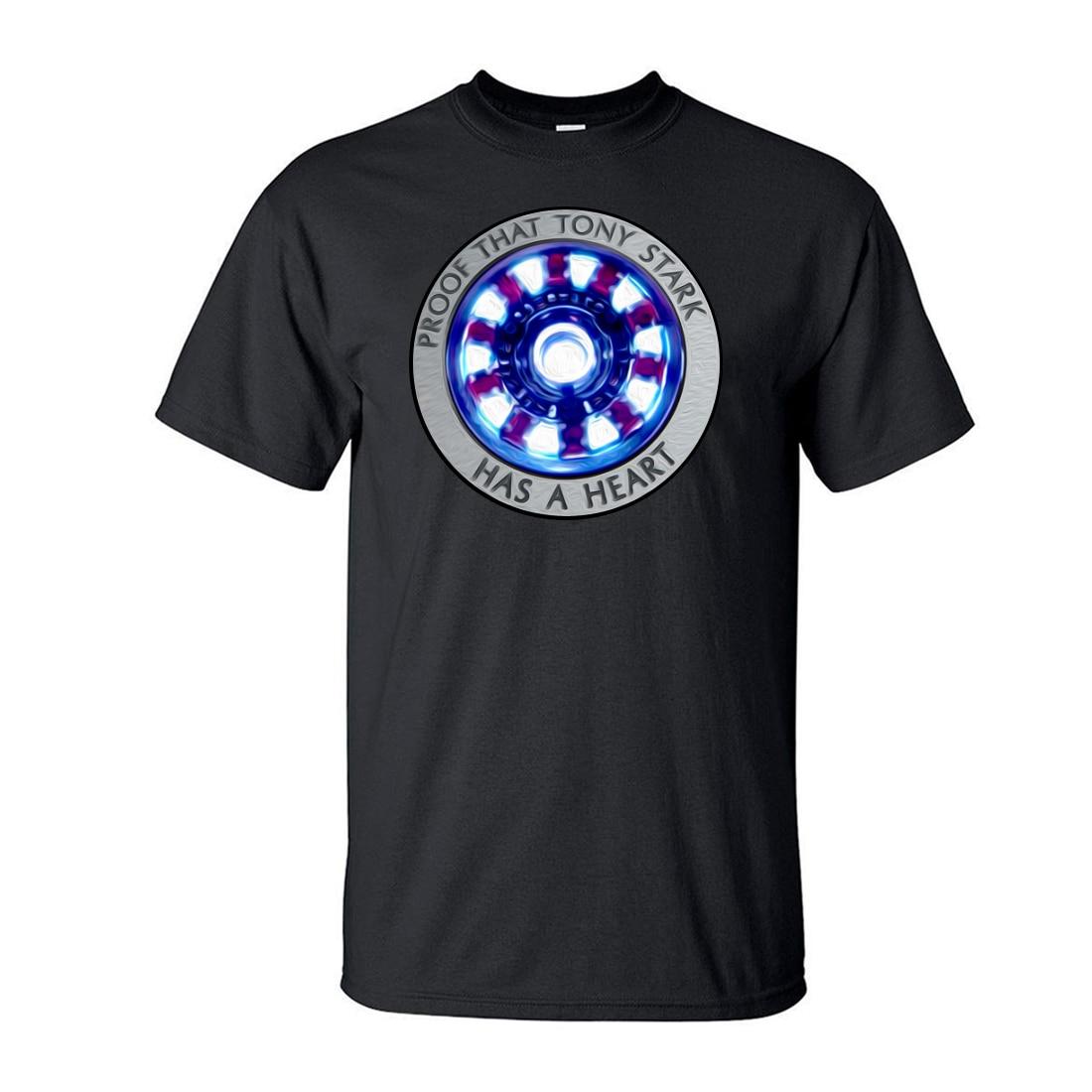 Tony Stark Heeft EEN Hart Logo Gedrukt T-Shirt Mannen 2019 Hot Zomer 100% Katoen Iron Man T-shirts Voor Volwassen hip Hop Streetwear BZ074