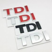 ANTINIYA 3D Metal TDI Car Styling Badge Emblem Decal Sticker for VW Sk0da Golf JETTA PASSAT MK4 MK5 MK6 Car Accessories