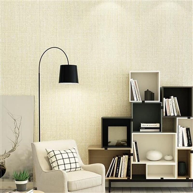 Papel tapiz Simple y moderno de wellyu de color liso no tejido para sala de estar dormitorio estudio FONDO de TV papel tapiz papel de pared