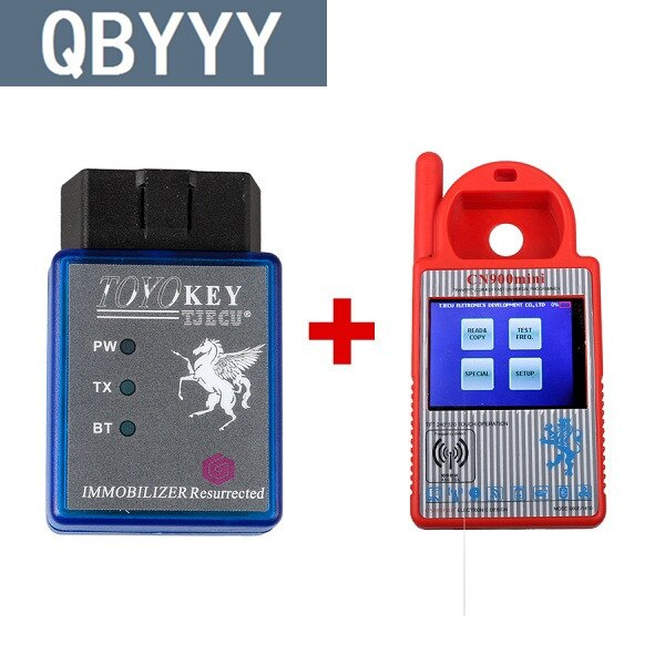 QBYYY Mini OBD II Chave Chave Transponder Programador Chave CN900 Mais TOYOCAR Apoiar Todas As Chaves Perdidas