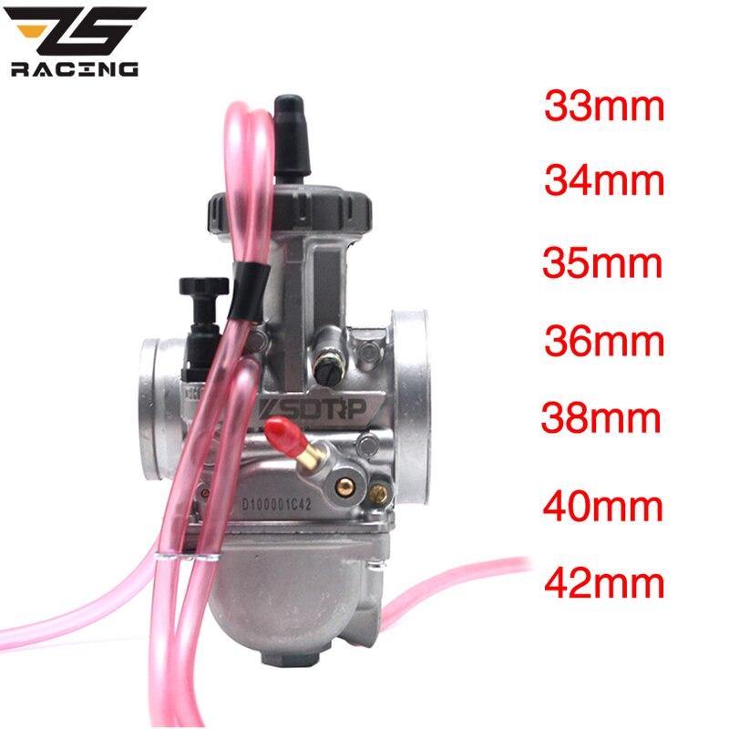 ZS Racing alta calidad PWK 33 34 35 36 38 40 42 ZSDTRP, carburador de aire Universal, 2T 4T, motor de motocicleta, escúter UTV ATV