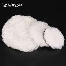 "ZtDpLsd 1Pcs White Wool 4"" 5"" 7"" Premium Quality Knit Buffing Pad Self-adhesive Wool Polishing Ball Car Motorcycle Paint Care"