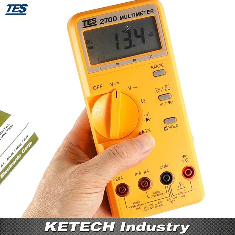 LCR Multímetro LCD Contagem 3200 com Bar-graph Analógico TES2700