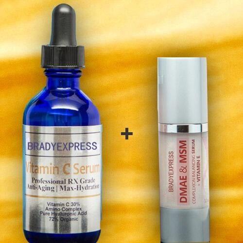 Nueva vitamina C 2oz + DMAE & MSM + vitamina E 1oz suero de arrugas antienvejecimiento crema Combo envío gratis
