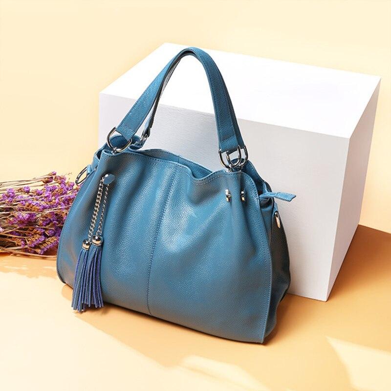 Bolsa de couro genuíno das mulheres bolsa de ombro feminino grande sacola senhora crossbody messenger bags para as mulheres 2020 bolsa feminina sac