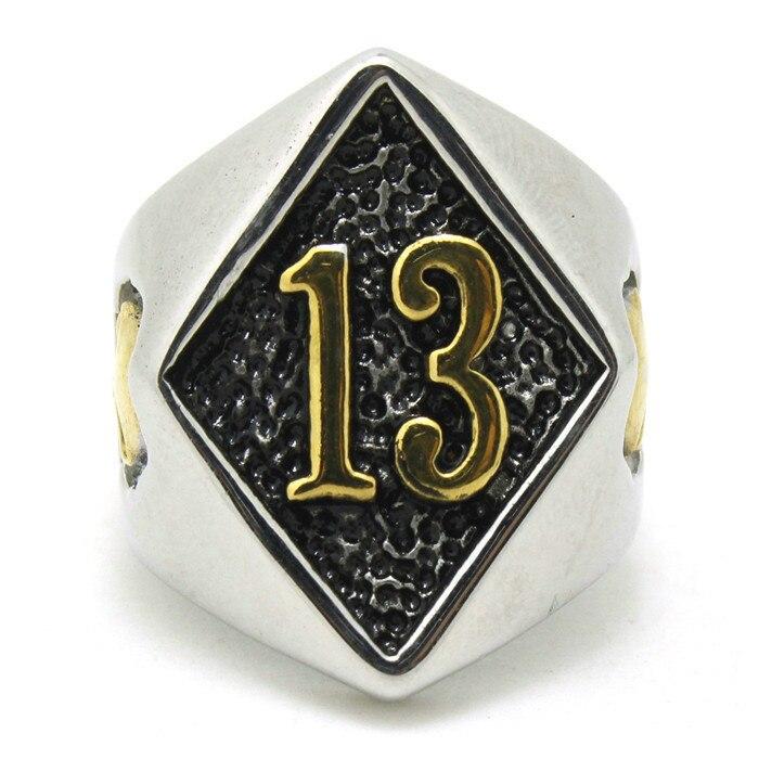 Talla 8-15, superventas, anillo de calavera de motorista dorado, 316L, acero inoxidable, para hombre, Chico, genial, nuevo, increíble anillo de la suerte 13