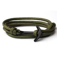 Bracelet fait main NIUYITID pour femmes hommes mode nouveau Bracelet ancre accessoires bijoux masculins Homme 14 couleurs livraison directe