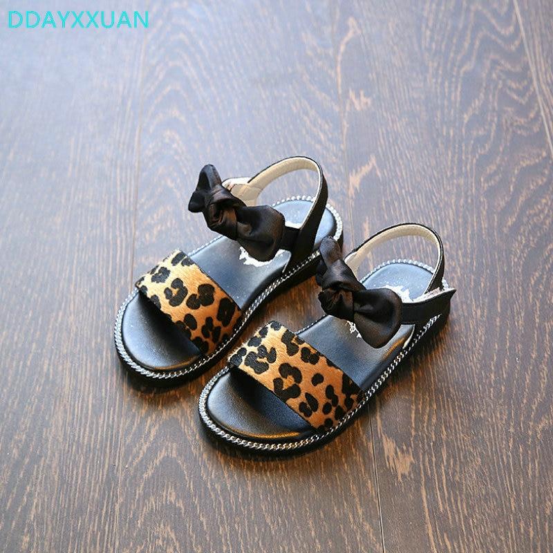 Girls Sandals Bowtie 2018 New Summer Hot sale Children Beach Shoes Kids Sandals for Girls PU Leather Flowers Princess Shoes