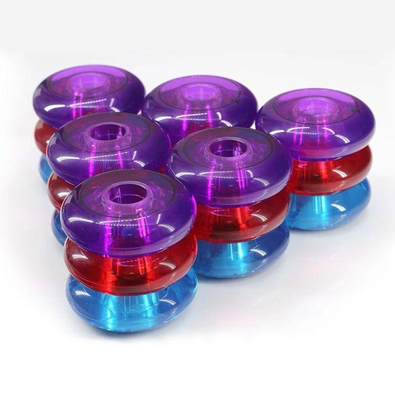 Crystal Skating Wheel Slalom FSK Inline Skates Shoes 83A Blue Red Purple Green All-meat Transparent for SEBA KSJ WFSC High HV HL