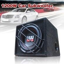 10 zoll 1200w auto subwoofer Starke Subwoofer Auto Lautsprecher Auto Super Bass Auto Audio Lautsprecher aktive Woofer Verstärker Lautsprecher