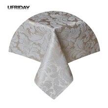 UFRIDAY Rechthoek Tafelkleed Bladeren Jacquard Waterdicht Polyester Tafel Dekken Doek voor Woonkamer Hotel Restaurant Tafelkleed