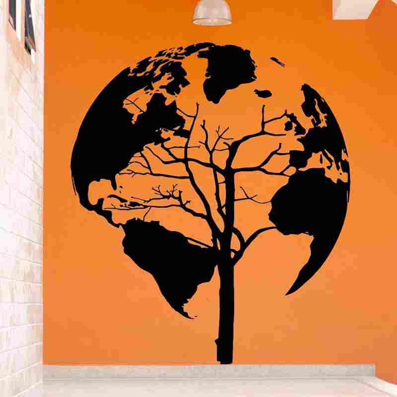 Pegatina de mapa del mundo, pegatinas de pared, carteles, vinilo, pegatinas de pared, decoración de pared, Mural, Pegatina de mapa del mundo