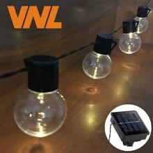 VNL Solar 5M 20 LED boda G50 guirnalda de luces LED globo festón bombilla caliente guirnalda de luces de hadas Fiesta al aire libre jardín