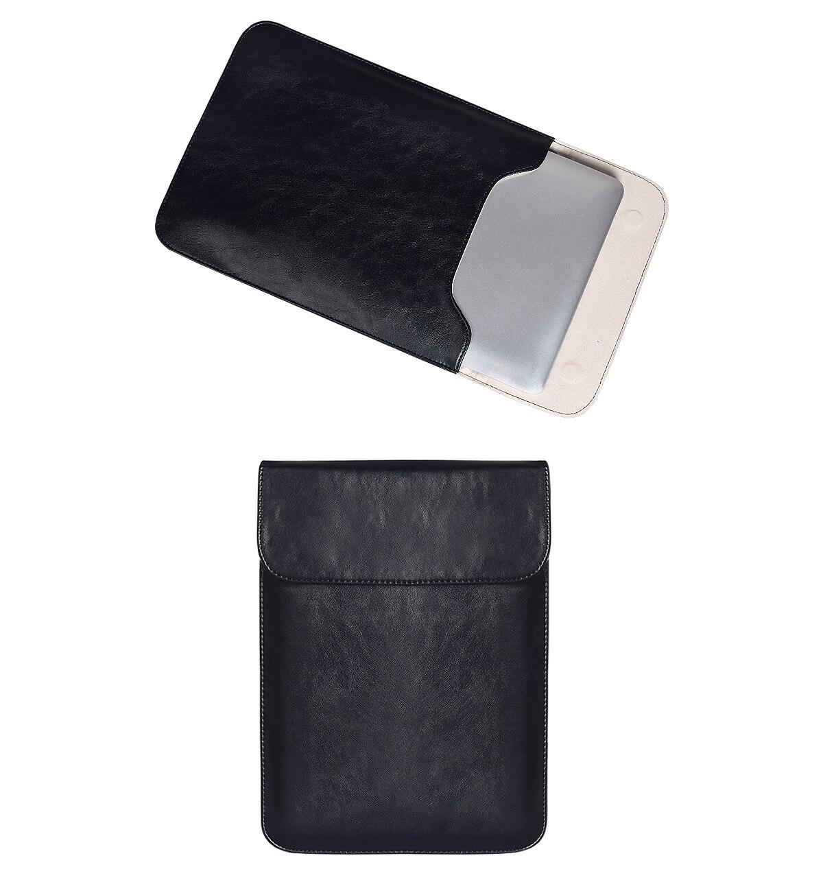 بولي Leather الجلود واقية دفتر حمل غطاء لجهاز ماك بوك اير برو شاومي الهواء HP ديل Ultrabook 11 13 15 بوصة حقيبة لاب توب