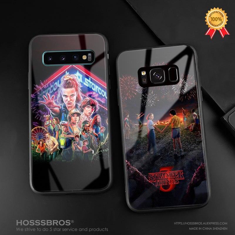 Stranger things TEMPORADA 3, funda de teléfono, funda de silicona suave de cristal para Samsung Galaxy S8 S9 S10e S10 Note 8 9 10 Plus