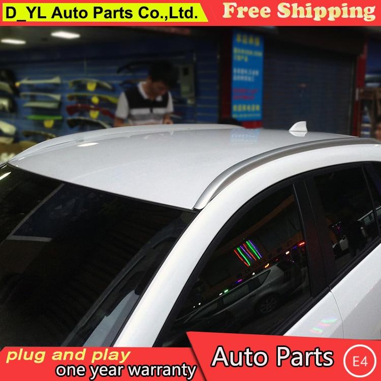 D_YL estilo de coche para Mazda CX-5 CX-7 bastidores de techo barras tipo rieles laterales equipaje compañía equipaje titular de aleación de aluminio auto Accesorios